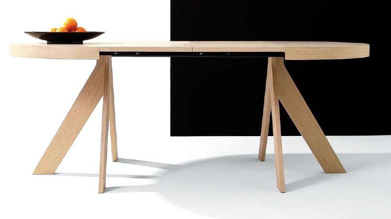 Mesa de comedor de pie central modelo Haz, fija y extensible. Se ...