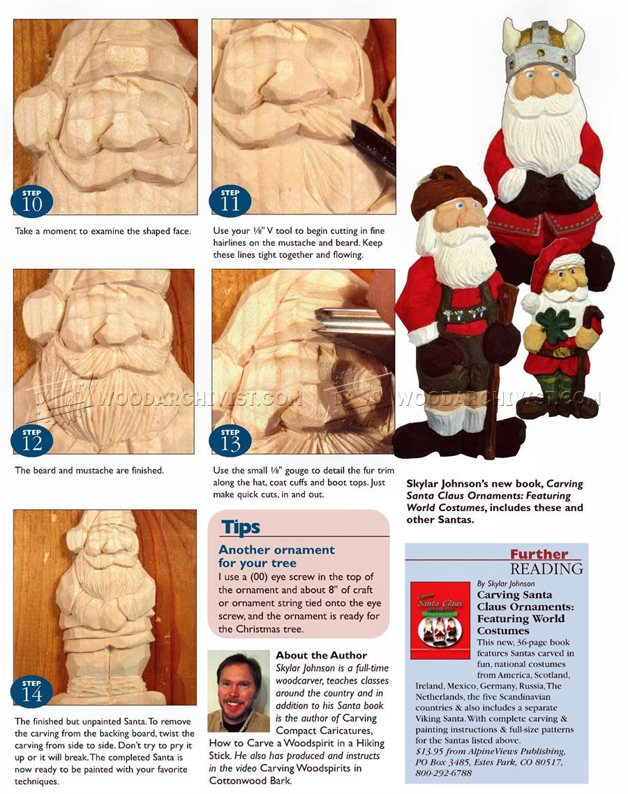 2007 Carving Santa Ornament Wood Carving Patterns Wood Carving
