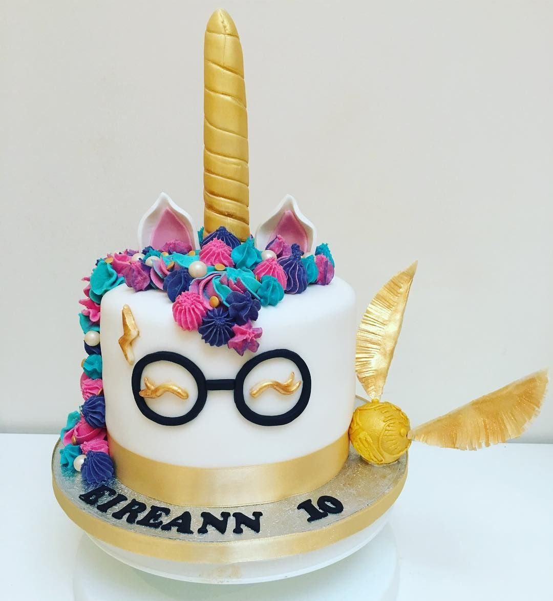 Harry Potter Unicorn Cake for my girls 10th birthday