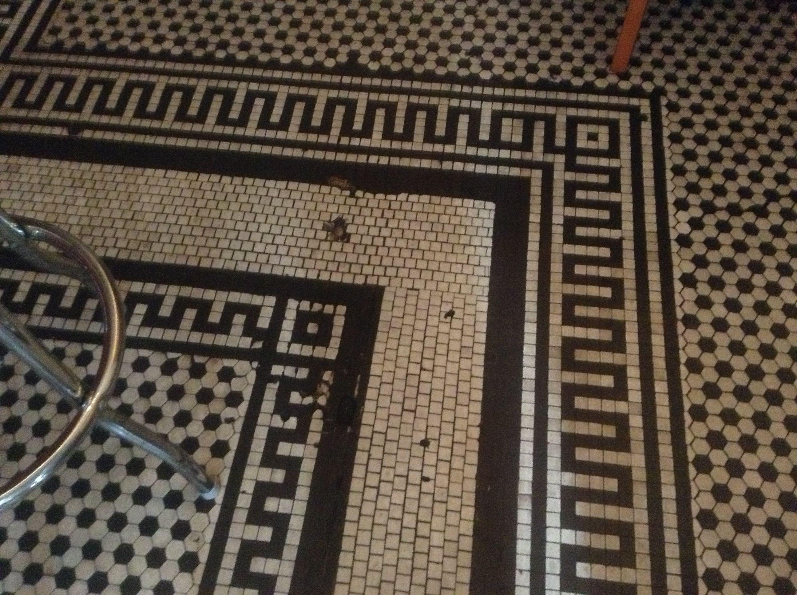Vintage Tile Floor Restaurant La