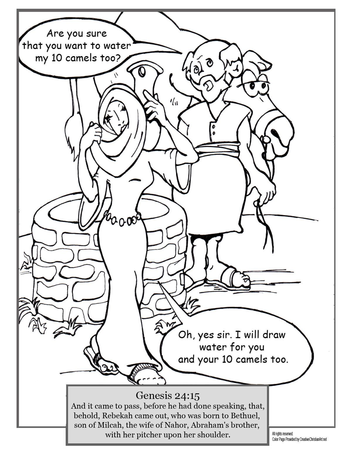 jacob and rachel coloring pages - photo#6