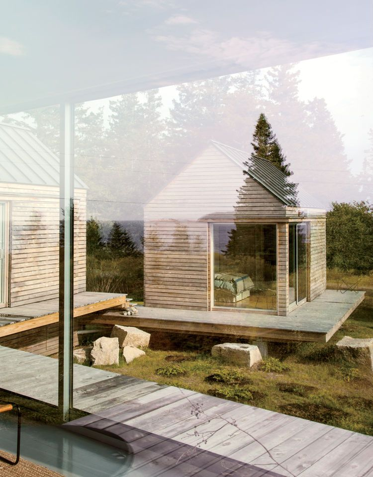 A Cluster of Cabins in a Former Quarry Makes a Simple Vacation - fenetre pour maison passive