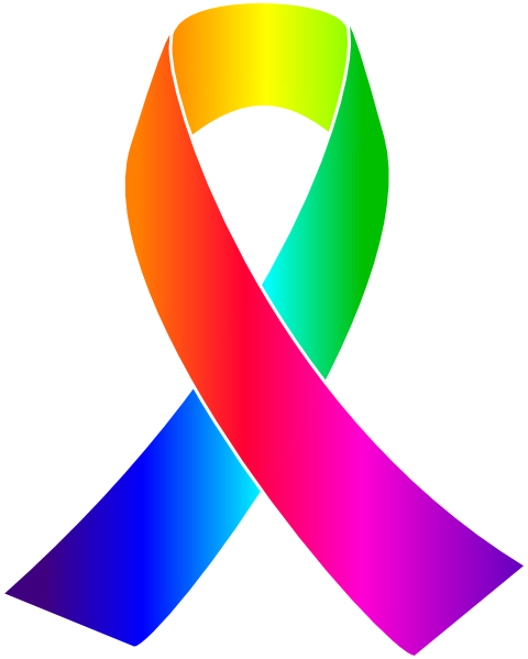 awareness ribbons clip art rainbow awareness ribbon clip art rh pinterest com au vector cancer ribbon logo vector art cancer ribbon