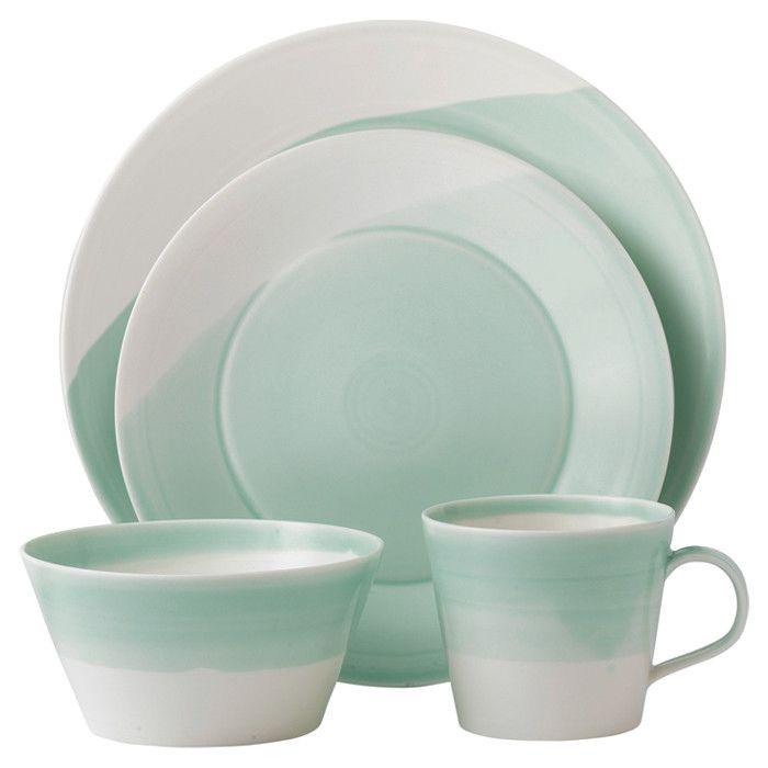 Viride Dinnerware Verde Menta Disenos De Unas Porcelana Fina
