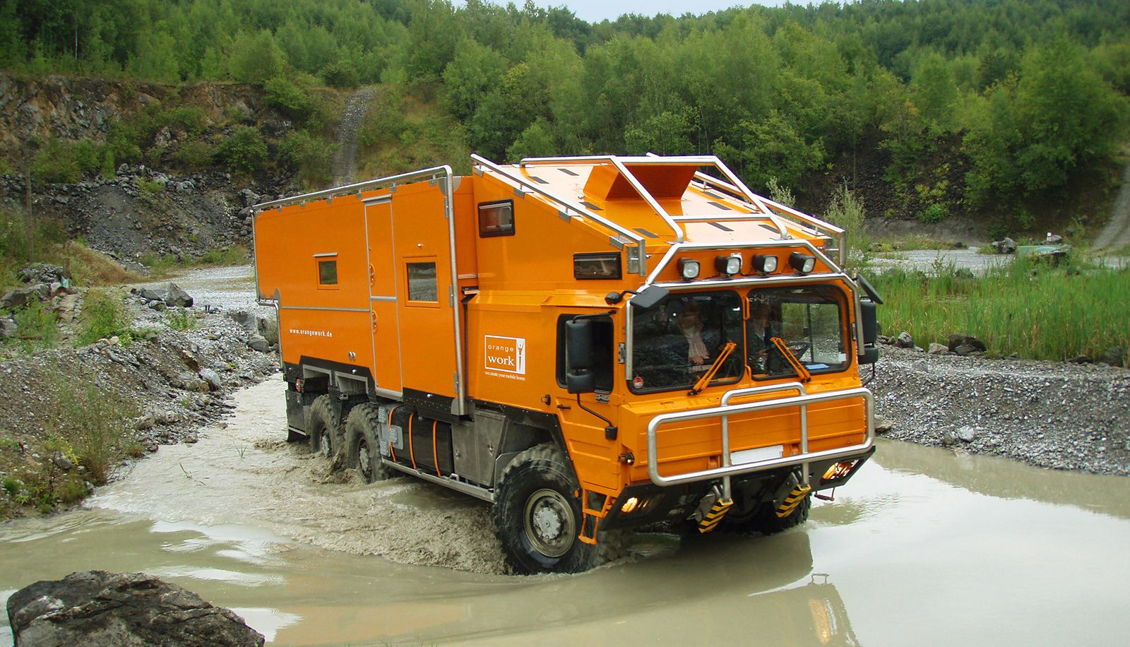 Orange Work Expedition vehicles and motorhomes