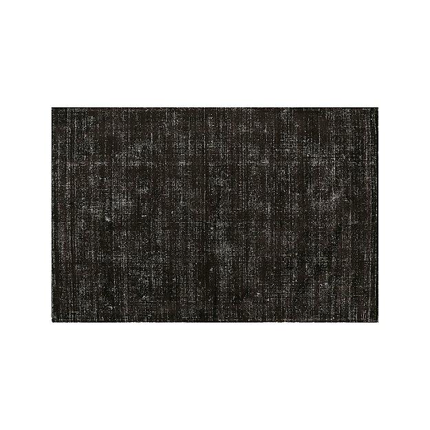 Vaughn Modern Black Rug 6 X9 Reviews Crate And Barrel Black Rug Rugs Rugs On Carpet