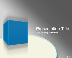 D Box Powerpoint Template Is A Free D Ppt Theme That You Can