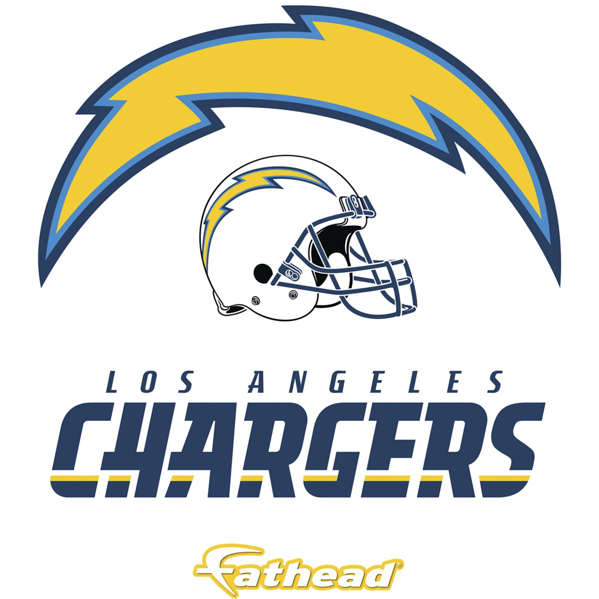 Los Angeles Chargers Logo Large Officially Licensed Nfl Removable Wall Decal Los Angeles Chargers Los Angeles Chargers Logo Chargers