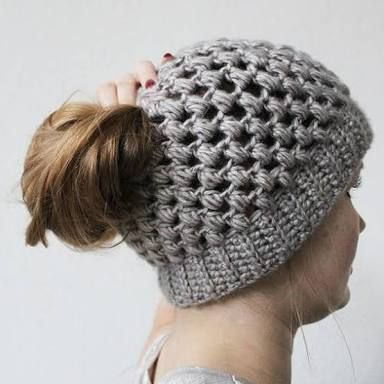Resultado De Imagen Para Ponytail Hat Crochet Pattern Free Gorros Enchanting Free Crochet Ponytail Hat Pattern