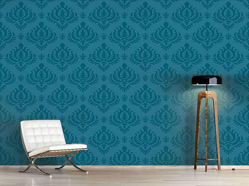 Design tapete petrol barock designtapeten barock for Tapete petrol