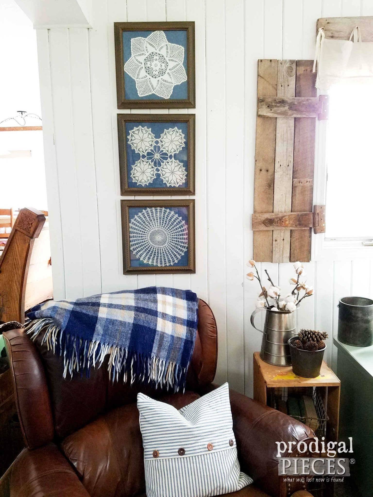Framed Doily Wall Art from Curbside Finds | Walls, Funky junk and ...