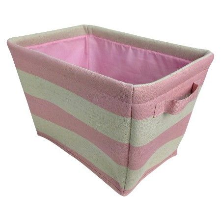 Circo™ Linen Striped Tote - Set of 2 - Fun Pink