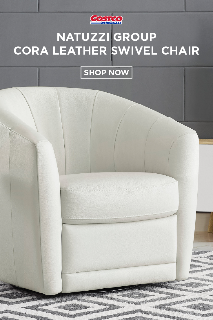 Natuzzi Group Cora Leather Swivel Chair Swivel Chair Leather