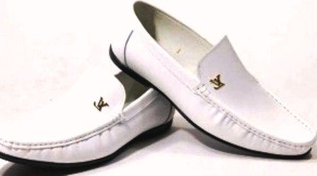 White leather shoes, Gucci dress shoes