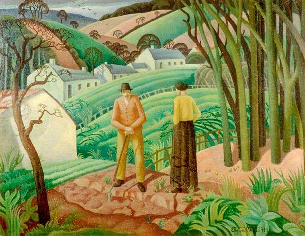 """""""Early Spring"""" by Ethelbert White, 1919 (oil on canvas)"""