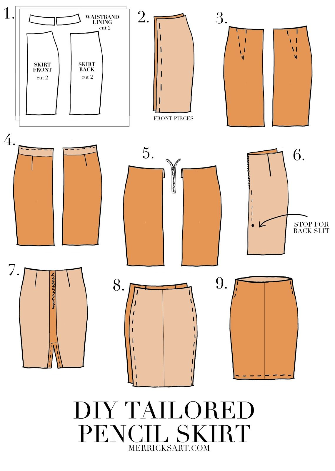 How to Sew a Pencil Skirt images