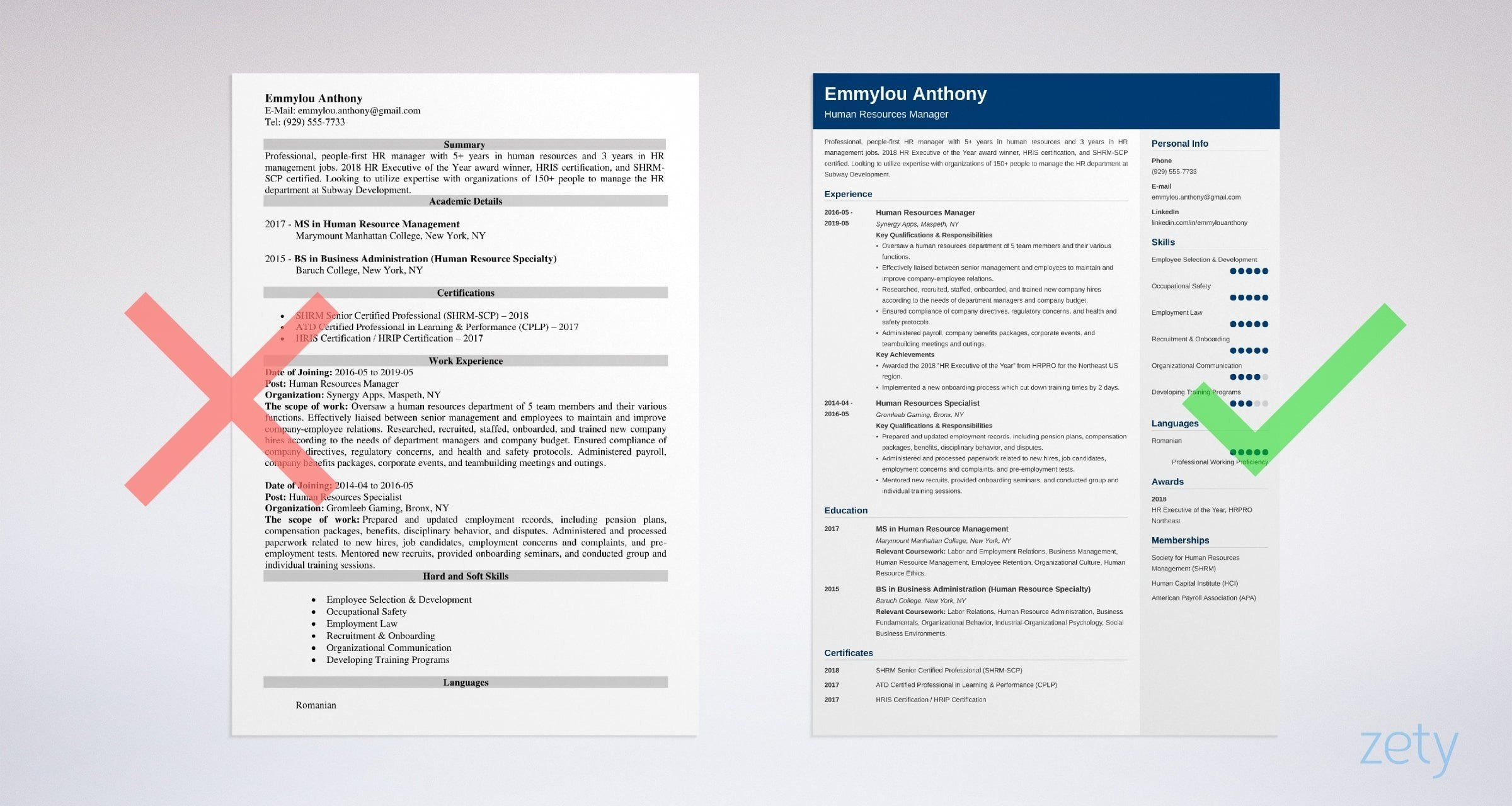 HR Manager Resume Sample & Complete Writing Guide [20