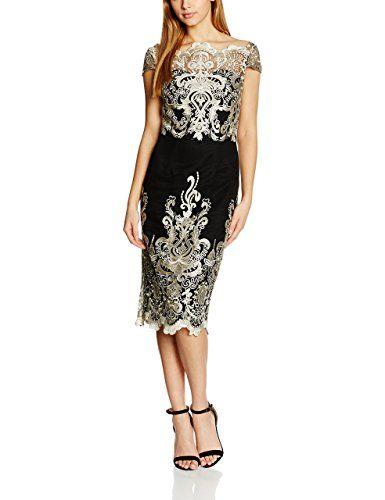 Chi Chi London Damen Standard-Kleider Embroidered Cap Sleeve Bodycon ...