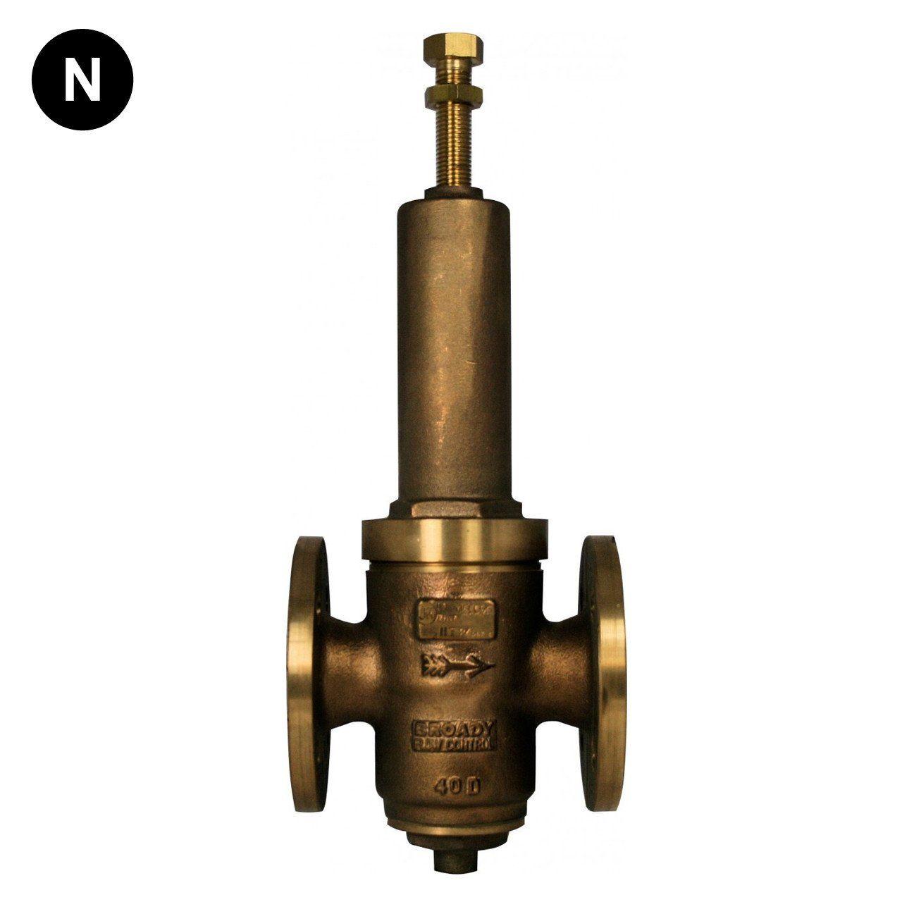 Broady type d pressure reducing valve valve relief