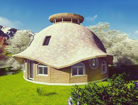 Купольный дом из соломенных панелей