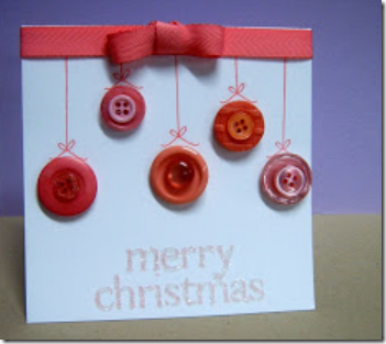Manualidades tarjetas de navidad hechas con botones - Manualidades de botones ...