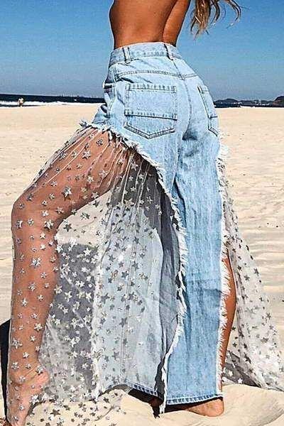 Photo of Schiere ausgestellte blaue Jean #ausgestellte #blaue #Jean #schiere