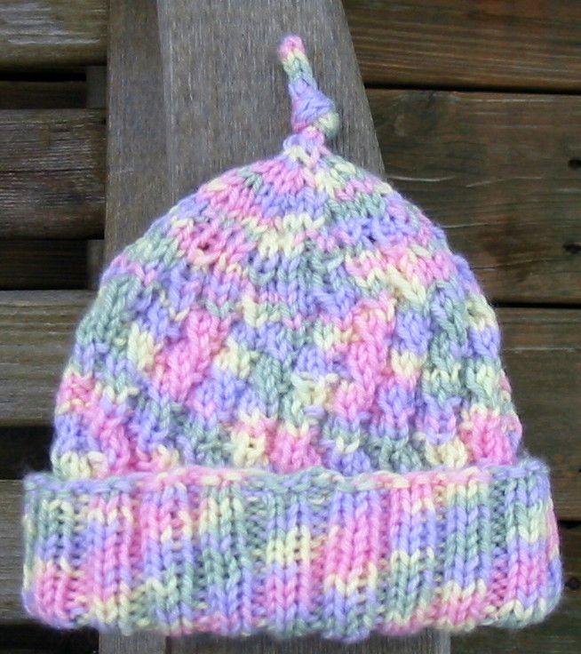 Knit With Kt Angled Rib Preemie Hat Detsk Pleten Iapky