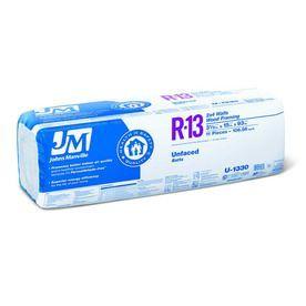 Johns Manville R 13 106 56 Sq Ft Unfaced Fiberglass Batt Insulation Wi Insulation Glass Insulators Lowes