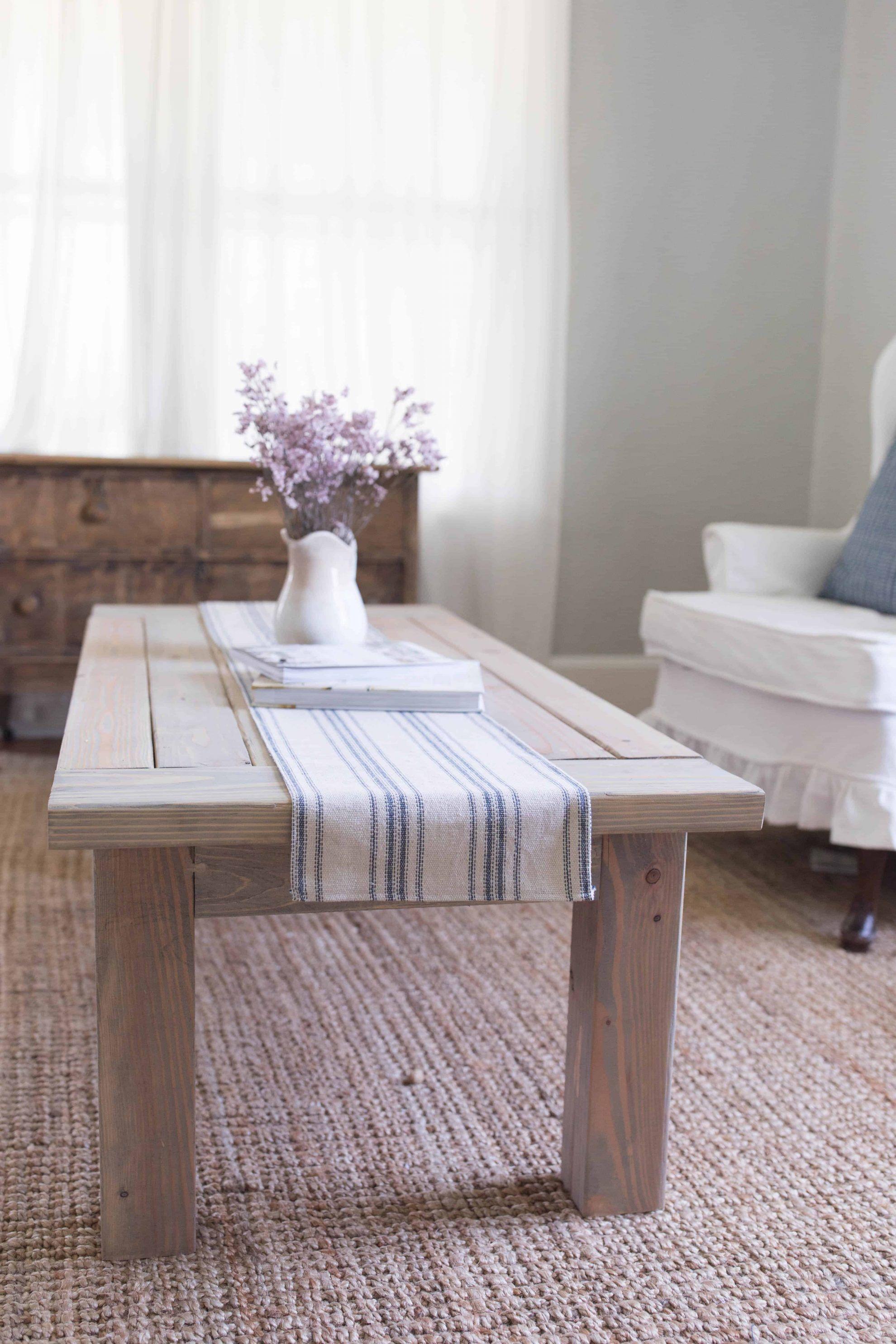 DIY Farmhouse Coffee Table Plans Diy farmhouse coffee