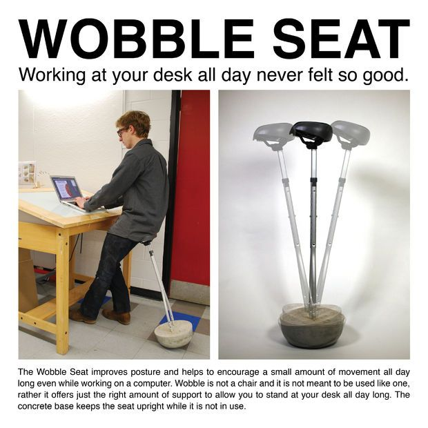 Wobble Seat Standing Desk Chair Furniture Seat Work