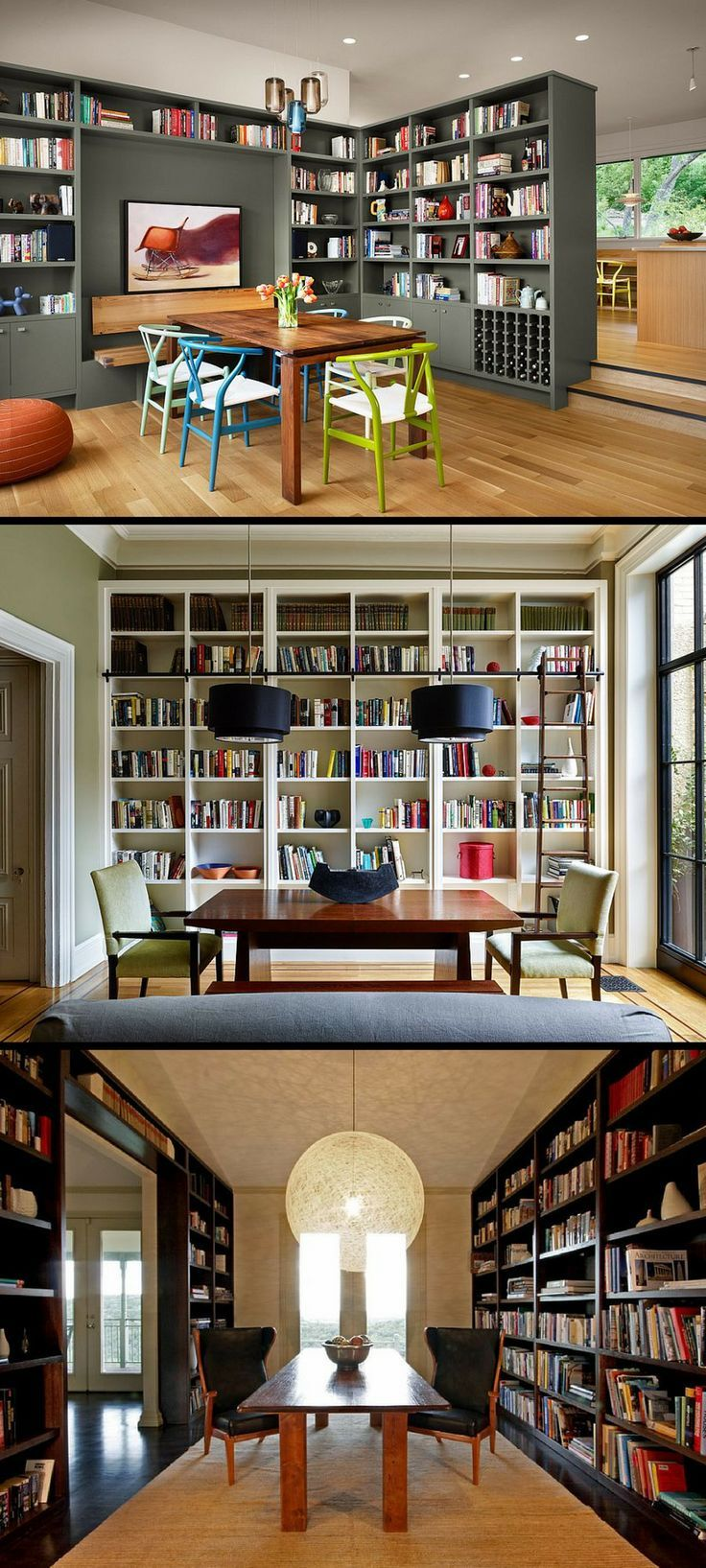 Dining Room Library Ideas: 25 Dining Rooms And Library Combinations, Ideas