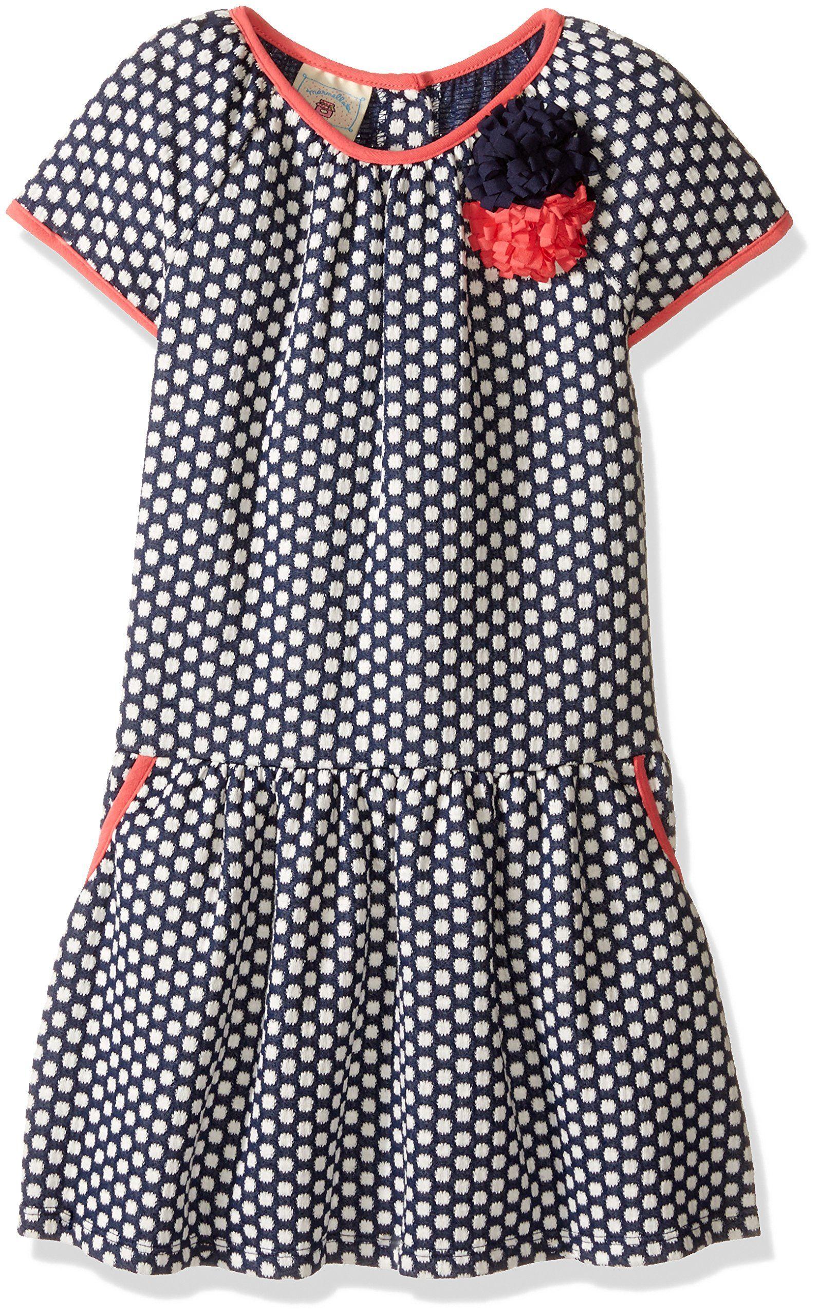 Marmellata Little Girls Toddler Polka Dot Knit Dress Multi 3T