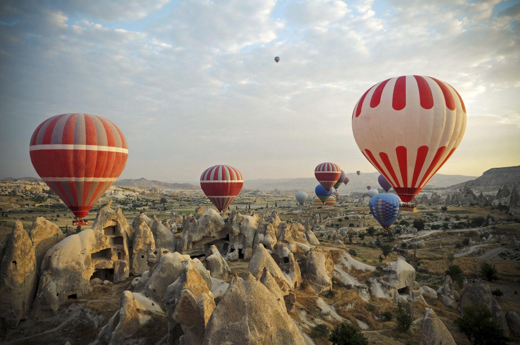 Take a breathtaking hot air balloon ride over Cappadocia