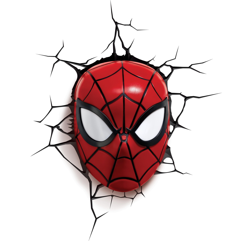 Amazon Com 3d Light Fx Marvel Spider Man 3d Deco Led Wall Light Toys Games Marvel 3d Lights Spiderman 3d Deco Light