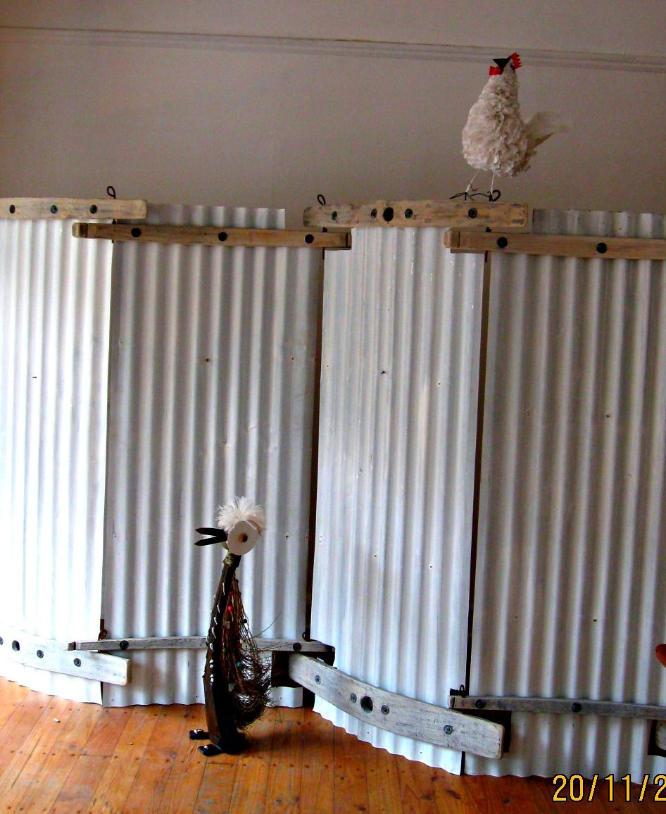 Corrugated Metal Township S Style Room Divider