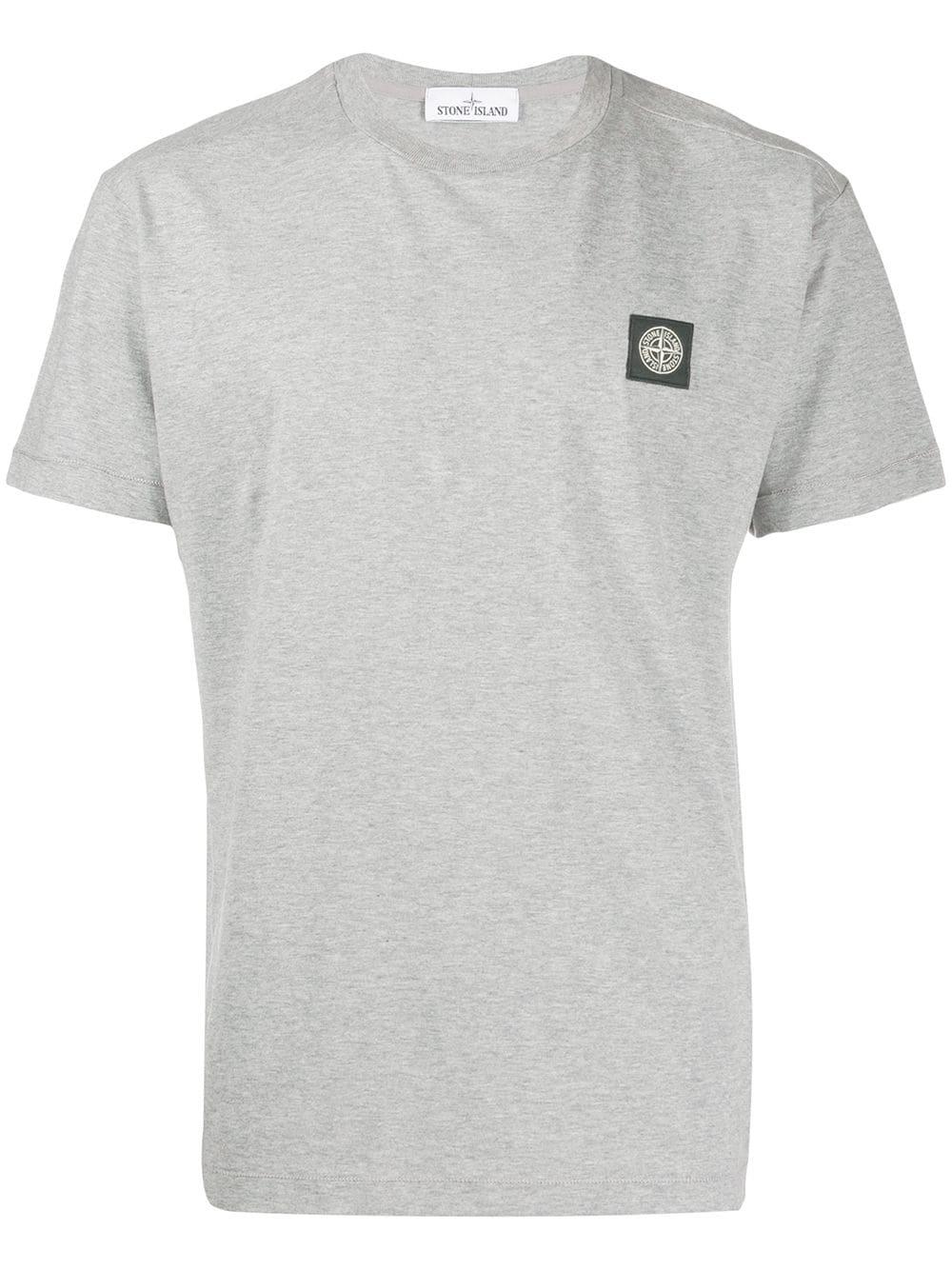 Stone Island Stone Island Logo Patch T Shirt Grey Stoneisland Cloth Shirts Grey Patch Logo Stone Island