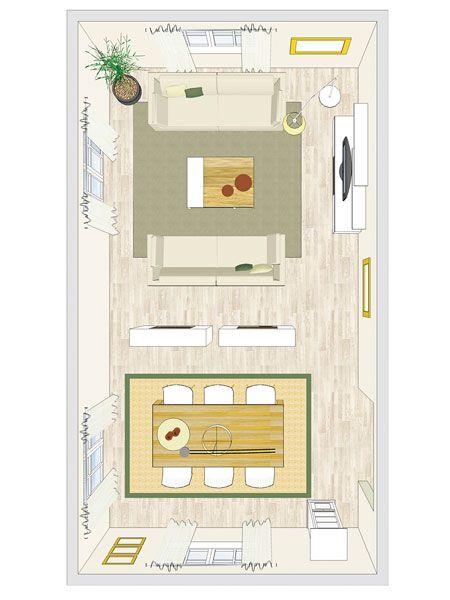 Nice Mobile Raumteiler machen gro e und offene Wohnzimmer noch gem tlicher Wenn der Esstisch mal mehr Platz