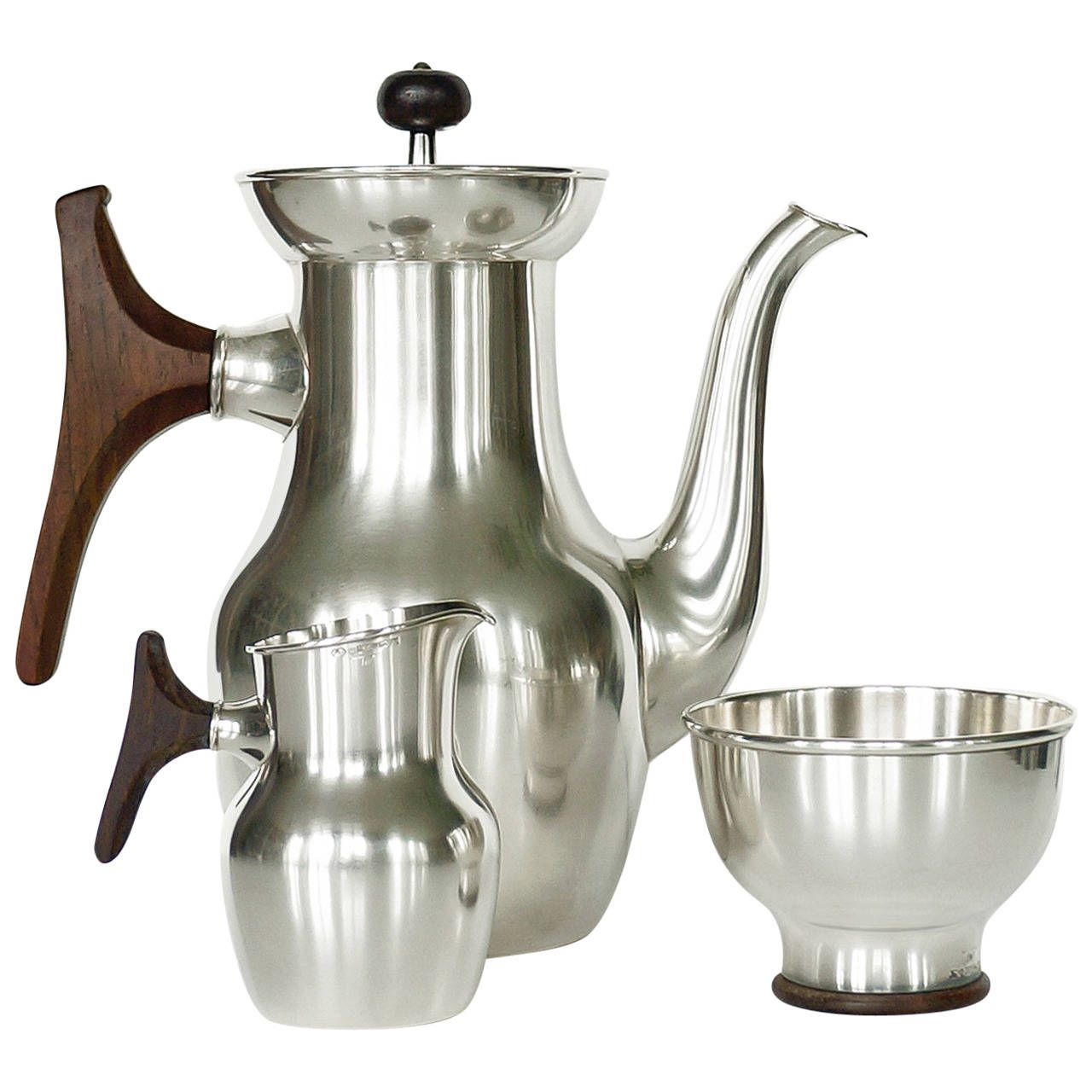 Tapio Wirkkala, Silver Coffee Tea Service, Handmade to Order by Kultakeskus Oy | From a unique collection of antique and modern sterling silver at https://www.1stdibs.com/furniture/dining-entertaining/sterling-silver/