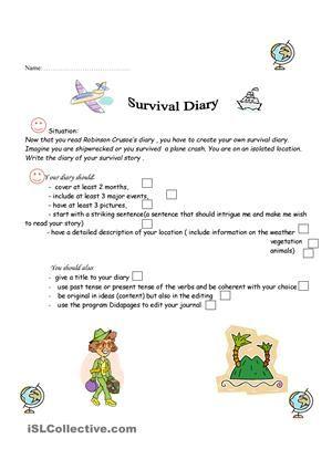 survival diary project les - engels \u003d schrijven Pinterest - recoommendation letter guide