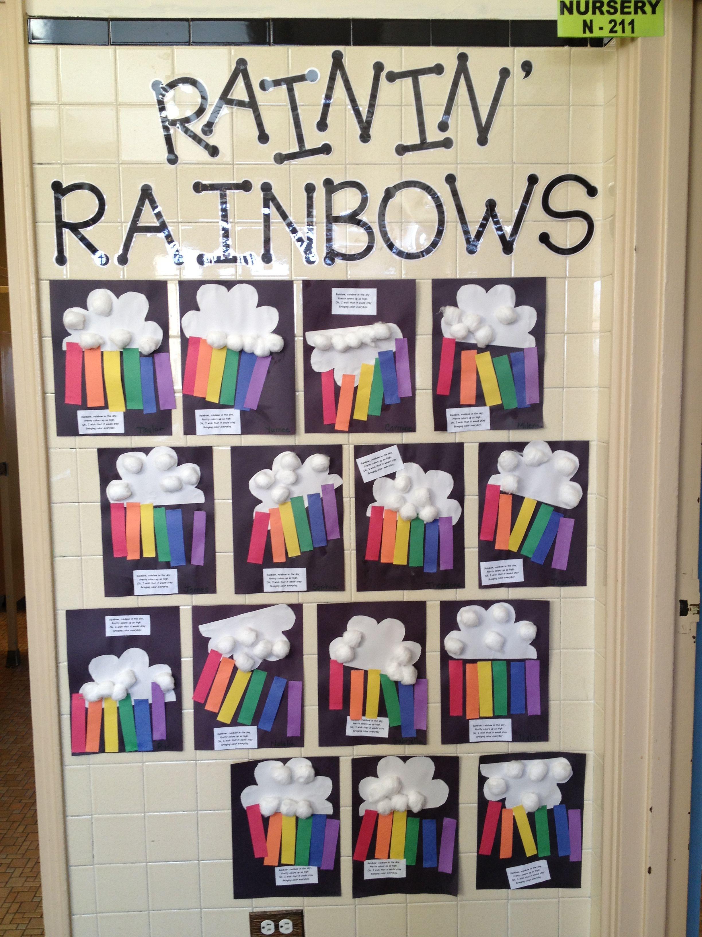 Letter R Preschool Raining Rainbows