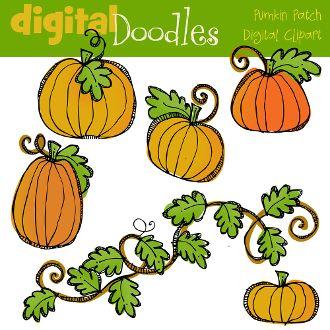 Pumpkin Patch Digital Clip Art Love Pumpkins Clip Art Digital Clip Art Pumkin Doodles