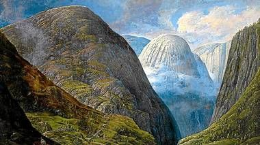 Carl Peter Lehmann (1794-1876): Nærøydalen med Jordalsnuten,  (1820-25)