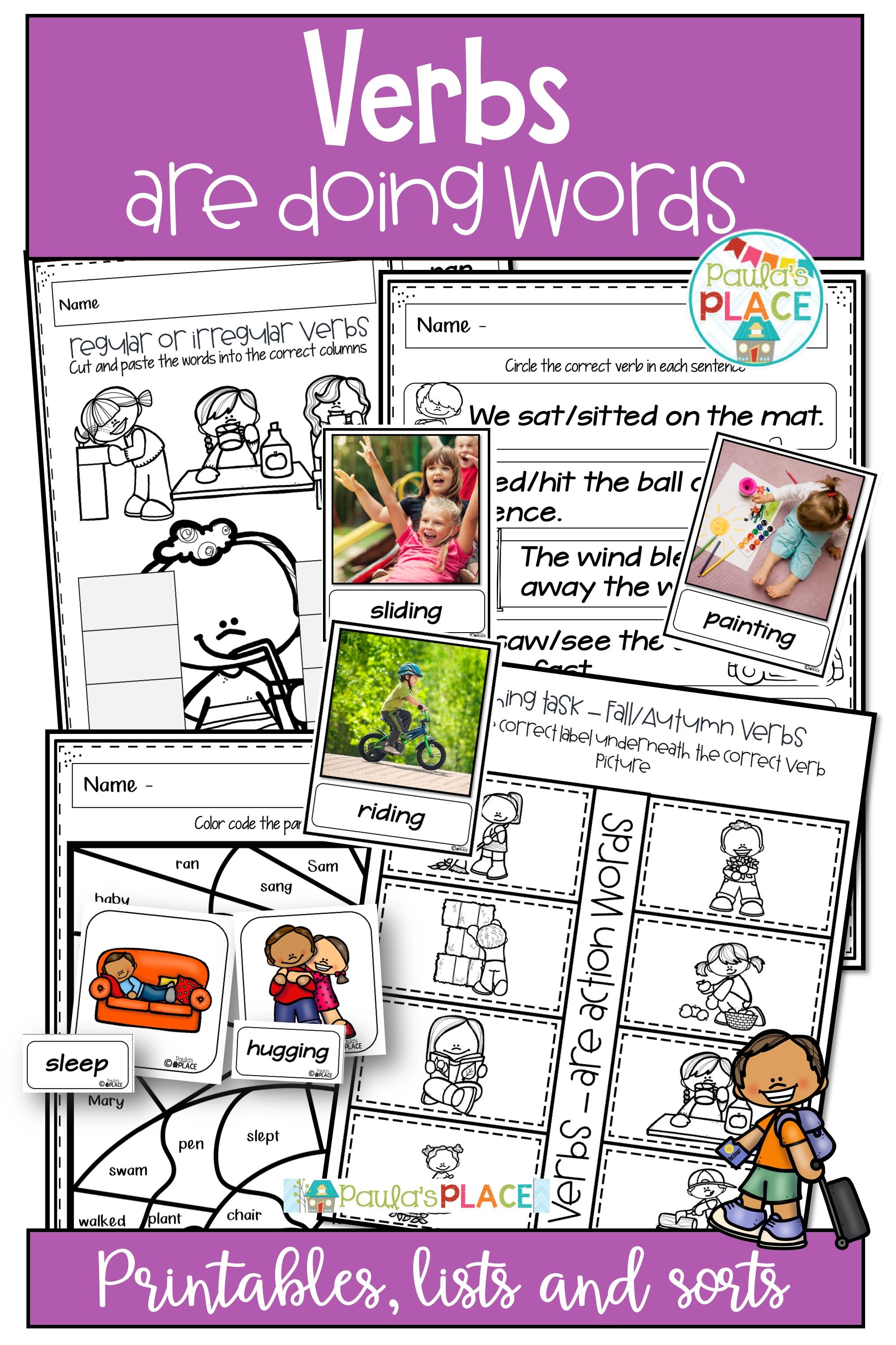 Verbs Activities And Worksheets With Images