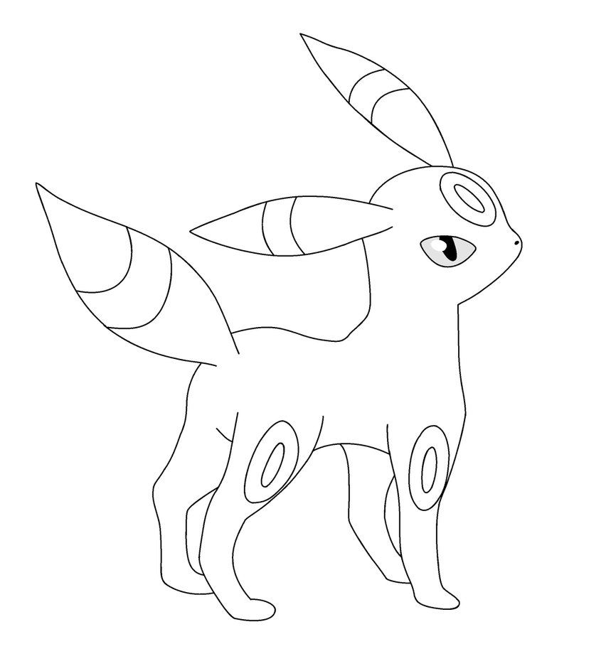 pokemon umbreon coloring pages | Colores, E mailing, Cartas