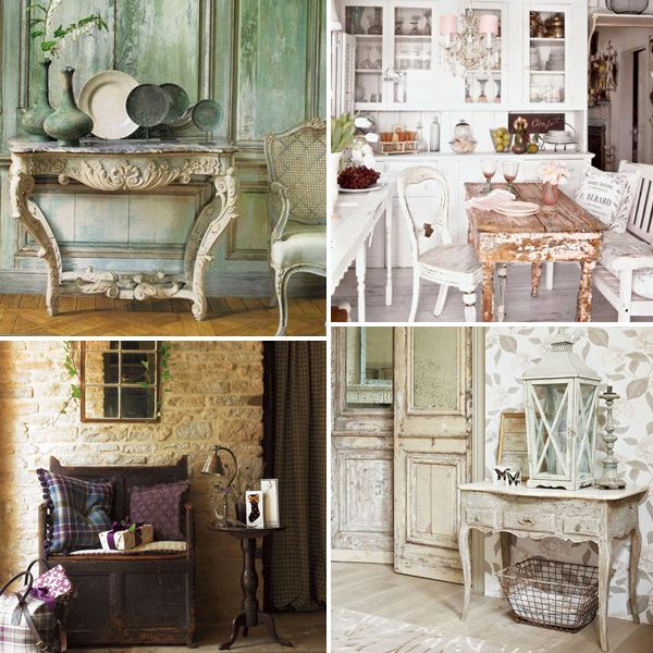 Distressed elements in home decor