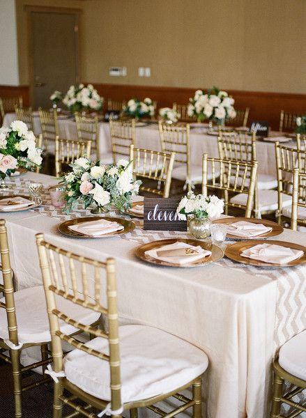Sparkly California Ballroom Wedding Wedding Reception Decor