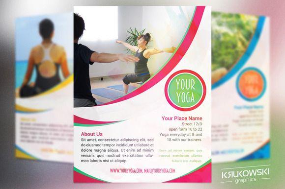 Your Yoga Flyer Template by Krukowski Graphics on @creativemarket - yoga flyer