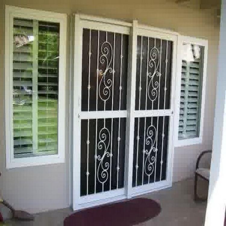 Burglar Bars For Sliding Glass Doors Extraordinary Implausible