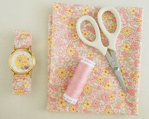 Fabric Elastic Watch Strap Tutorial Pretty By Hand