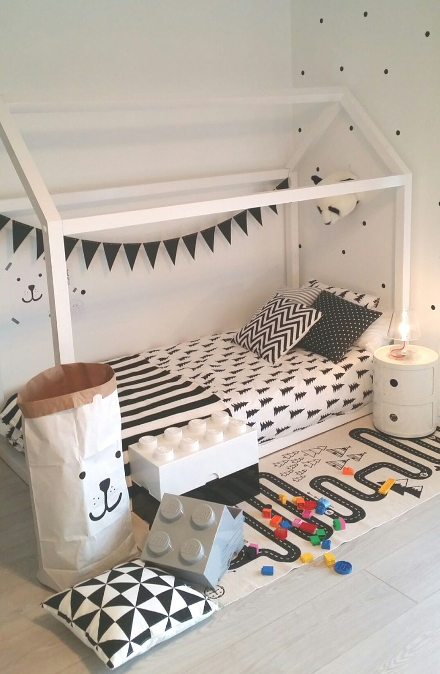 habitacin infantil en blanco y negro decoukids